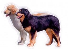 Paar stehend schwarzmarken & blond 13 cm